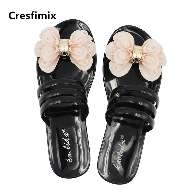 Cresfimix sandalias de mujer women fashion waterproof jelly sandals lady cute spring & summer slip on sandals beach sandals cresfimix women cute spring