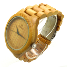 Classic men's fashion design reloj hombre full bamboo wooden quartz watches Japan 2035 Miyota movement wrist watches