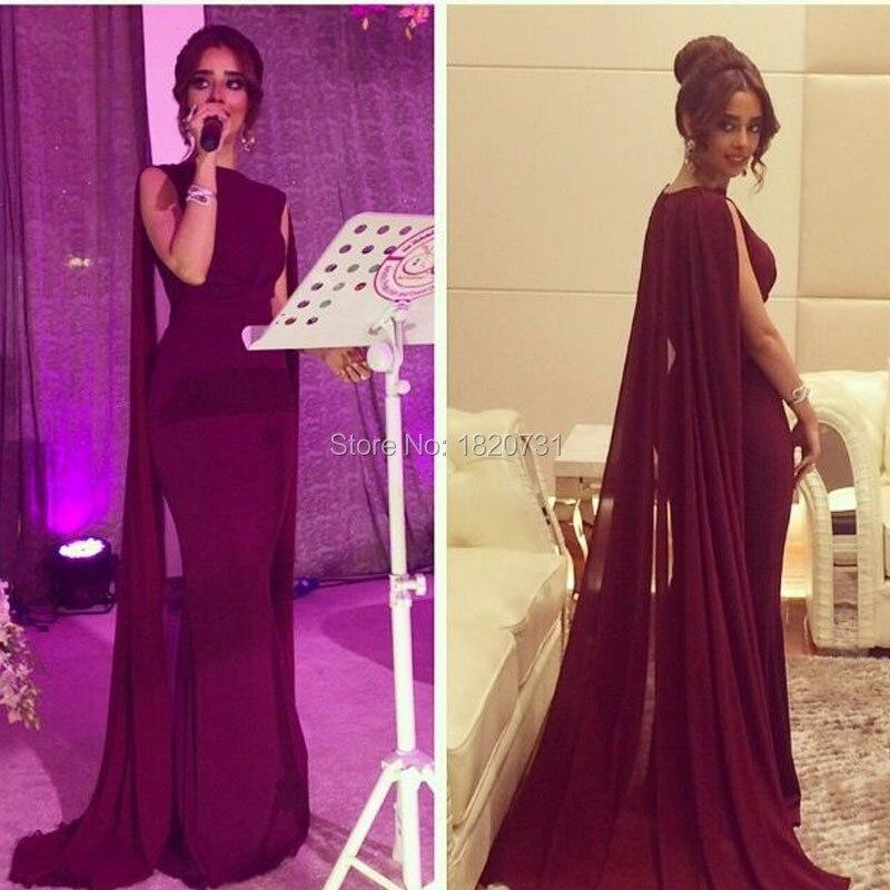 Abendkleider longues bordeaux robes de soirée Jersey mousseline de soie sirène robe formelle conception saoudienne arabe