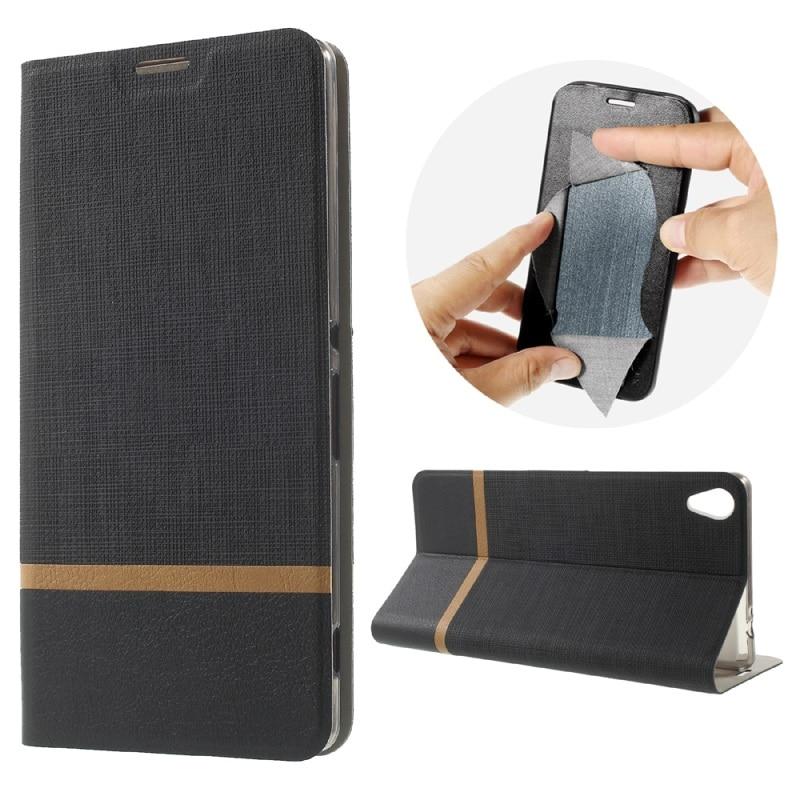 עבור Sony Xperia XA אולטרה-C6 טלפון נייד המקרים ניגודיות צבע קטן רשתות עור הפוך התיק התיק כיסוי עבור Sony Xperia XA Ultra