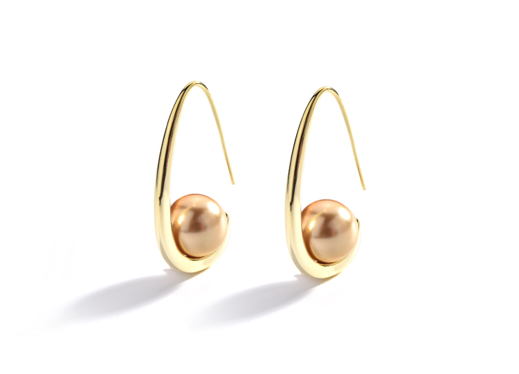 fashion pearl gold stud drop earrings 01 (13)