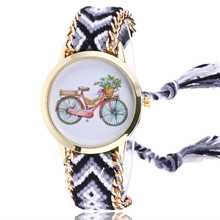 womens watches top brand luxury Women Map Knitted Weaved Rope Band Bracelet Quartz Dial Wrist Watch drop shipping