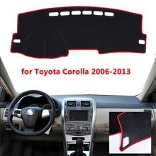 Araba Dashboard ışıklı çerçeve Enstrüman Platformu Masası Halı Önlemek Için Toyota Corolla 2006 2013 2014 2015 2016 2017 2018 kapak paspaslar