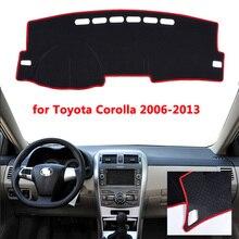 รถแดชบอร์ดหลีกเลี่ยง Pad Pad light แพลตฟอร์มโต๊ะสำหรับ Toyota Corolla 2006 2013 2014 2015 2016 2017 2018 ฝาครอบ Mats