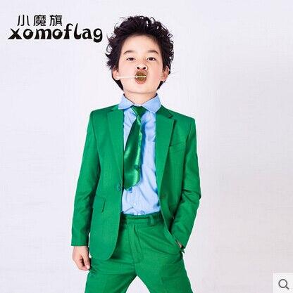 Hot sale fashion baby boys green casual blazers jacket wedding suits ...