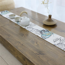 Vintage Butterfly Print Table Runner Flannel Tea Cover Modern Luxury Refrigerator Wardrobe Flag Tablecloth Home Decor