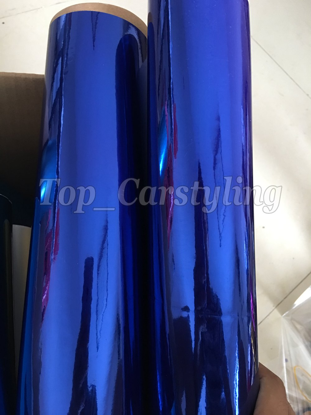 chrome blue mirror stm hexis car wrapping film high stretchable flexible (7)