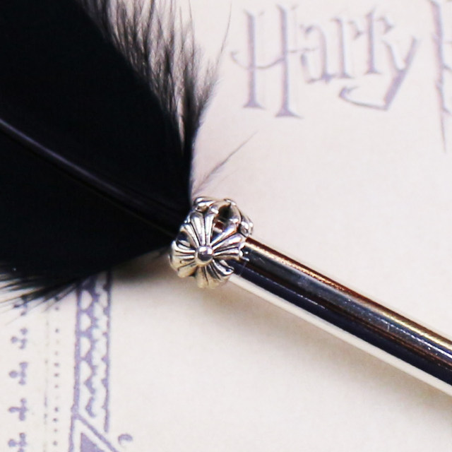 14 Colors Fashion Feather Quill Ballpoint Pen For Wedding Gift Harry Potter  Office School Kawaii Supplies Cheap Sale