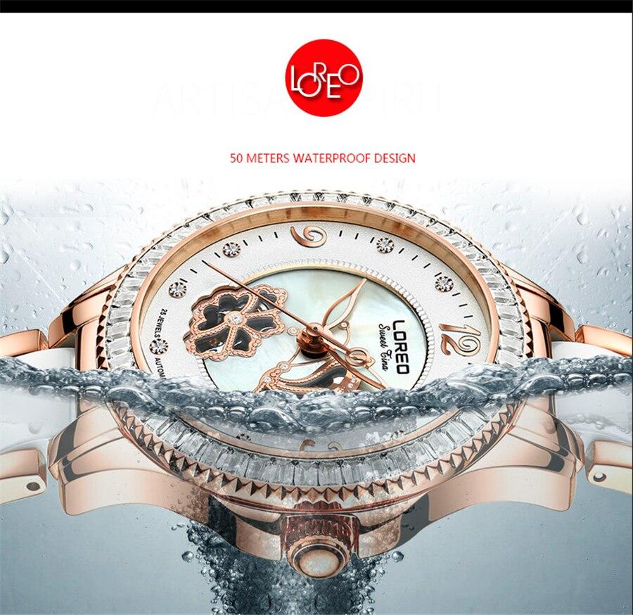 Mulheres Relógios LOREO relógio relogio feminino Relógio