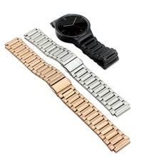ใหม่หรูหราสง่างามสแตนเลสสายเชื่อมโยงสร้อยข้อมือสายนาฬิกาข้อมือสายคล้องหัวเว่ยสมาร์ทนาฬิกา