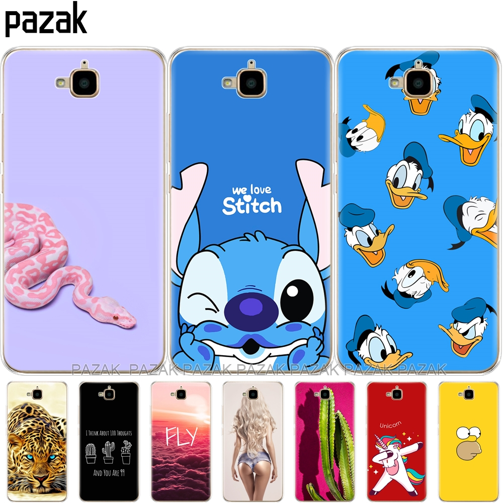 Soft Case For Huawei Honor 4C Pro Case Honor 4C Pro Cover Silicone Back Case For Huawei Y6 Pro 2015 Case TIT-L01 TIT-TL00 Phone