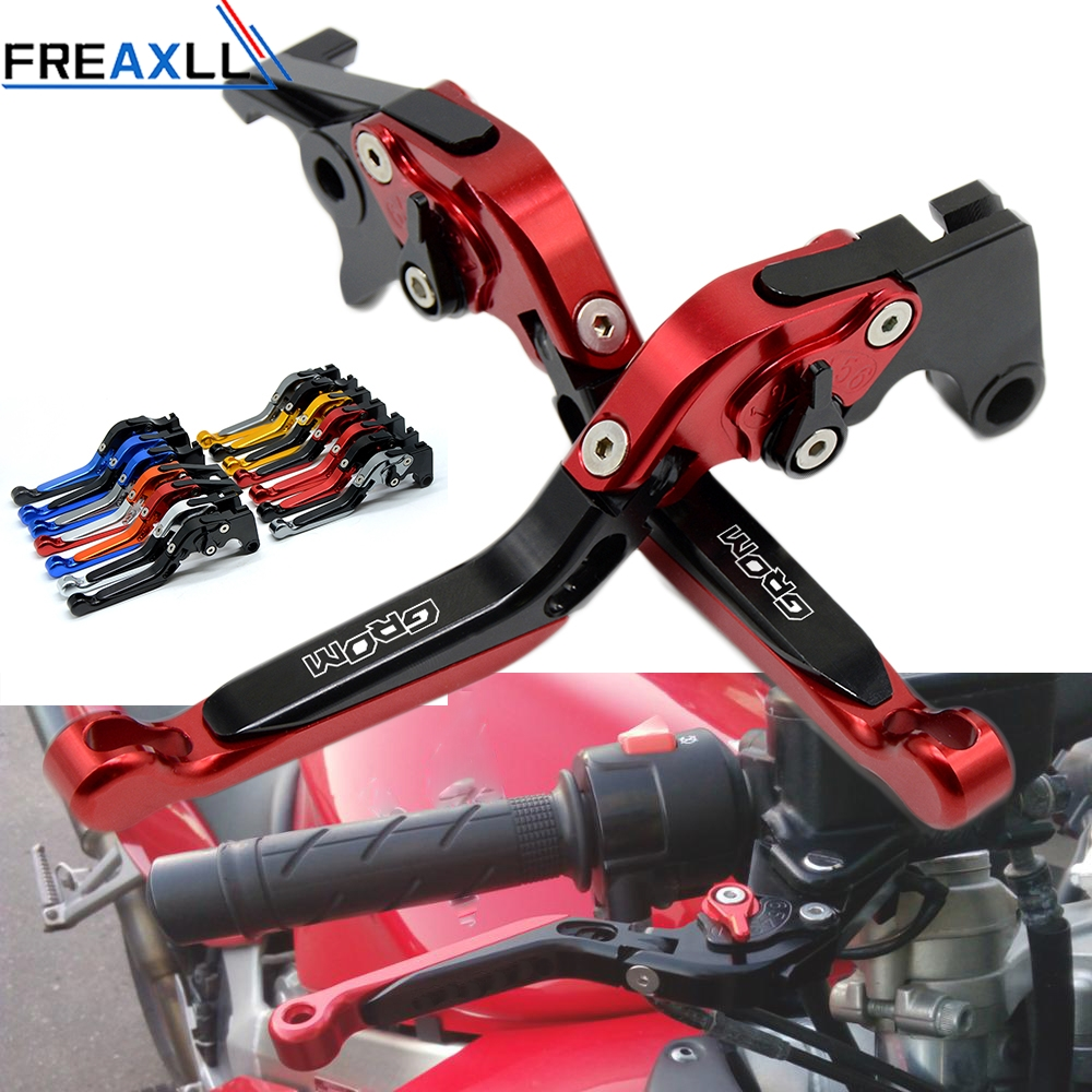 2PCS Motorcycle Adjustable Brake Clutch Levers For Honda GROM MSX 125
