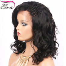 Elva Hair Short Lace Front Human Hair Bob Wigs For Black Women Loose Wave Brazilian Remy Hair Wig Pre Plucked Hairline 10″-14″