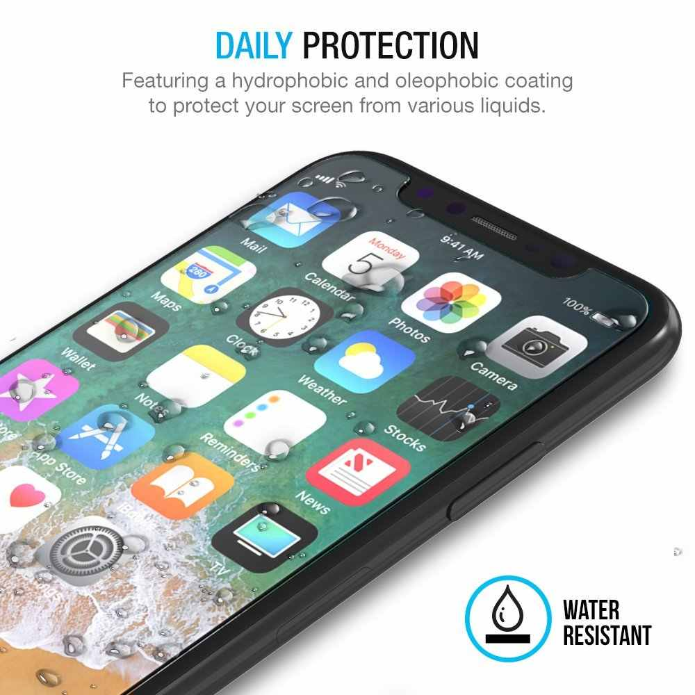 NYFundas For iPhone X Screen Protector Tempered Glass Pelicula de vidro for iPhone 10 8 Plus 7 6 6S 5 5S SE 5SE Film Protection