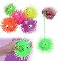 Nueva Cara de La Sonrisa Globo Pelota Con Luz Intermitente Tiro Squeeze punta Masaje Divertido Juguete Juguete Para Niños Kids Regalos Light Up juguetes