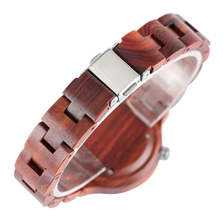 Fashion Natural Simple Casual Wood Bamboo Wooden QuartzWatches Ladies` Bracelet Clasp Analog Women Gift Clock Relojes (22)