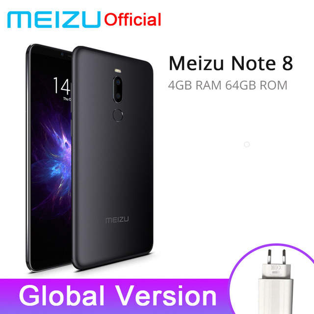 Global Version Meizu Note 8 4GB 64GB Mobile Phone Note8 Snapdragon 632 Octa Core 5.99'' 2160x1080P Dual Rear Camera 3600mAh