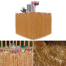 Table Beach Picture Decoration Flower Supplies Tropical Skirt Hawaiian As DIY Wedding Flowers Party Grass(China)