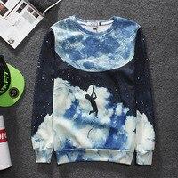 2017 neue Europa tide marke sweatshirt 3D Digital Sky sweatshirt handels männlichen 3D stereo druck sweatshirt mantel