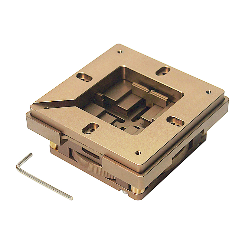 80mm 90mm Universal Aluminum BGA Reballing Station Magnet Auto Adjust BGA Stencil Holder Support Fixture Retangle Chips