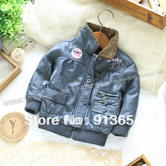 Frete grátis varejo novo 2014 moda bebê roupas crianças casaco de inverno menina crianças jaqueta de couro falso outerwear quente