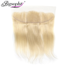 Bigsophy Mongolian Straight Wave 13x4 Lace Frontal Closure Ear To Ear 613 Color Blonde Lace Frontal Closure Remy Hair 10-20Inch стоимость