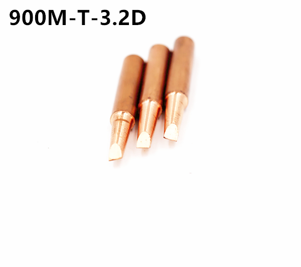 3piece  900M-T-3.2D Diamagnetic Copper Soldering Iron Tip Lead-free Solder Tip 933.376.907.913.951,898D,852D+ Soldering Station