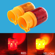 Solar Warning Light Lamp LED Emergency Traffic Warning Obstruction Light LED Indicator Alarm Lights Tower Crane Marine lamp keizik k a333 8 led shark gill solar side vent warning light black