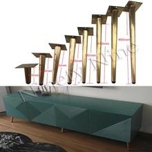 4 adet 170/220/265/310/380/450/480MM mobilya masa ayakları Metal konik kanepe dolap dolap ayakları kahve çay bar taburesi sandalye bacak