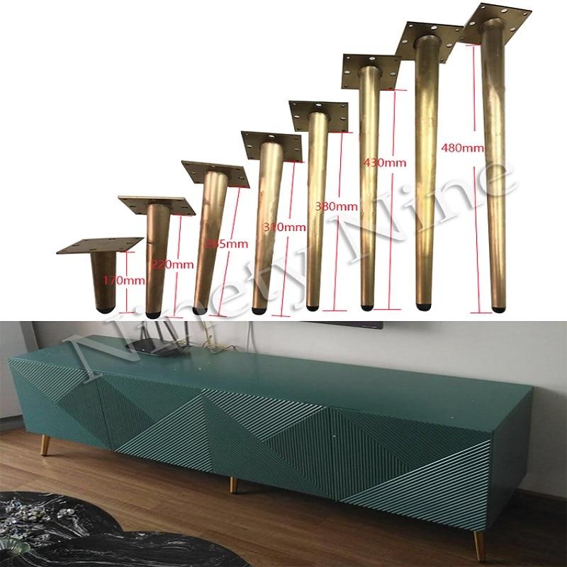 4Pcs 170/220/265/310/380/450/480MM Furniture Table Legs Metal Tapered Sofa Cupboard Cabinet Feet Coffee Tea Bar Stool Chair Leg