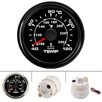 40 120 Celsius Car Water Temperature Gauge 52 mm digital thermometer water temp gauges for boat yacht with backlight 9 32V