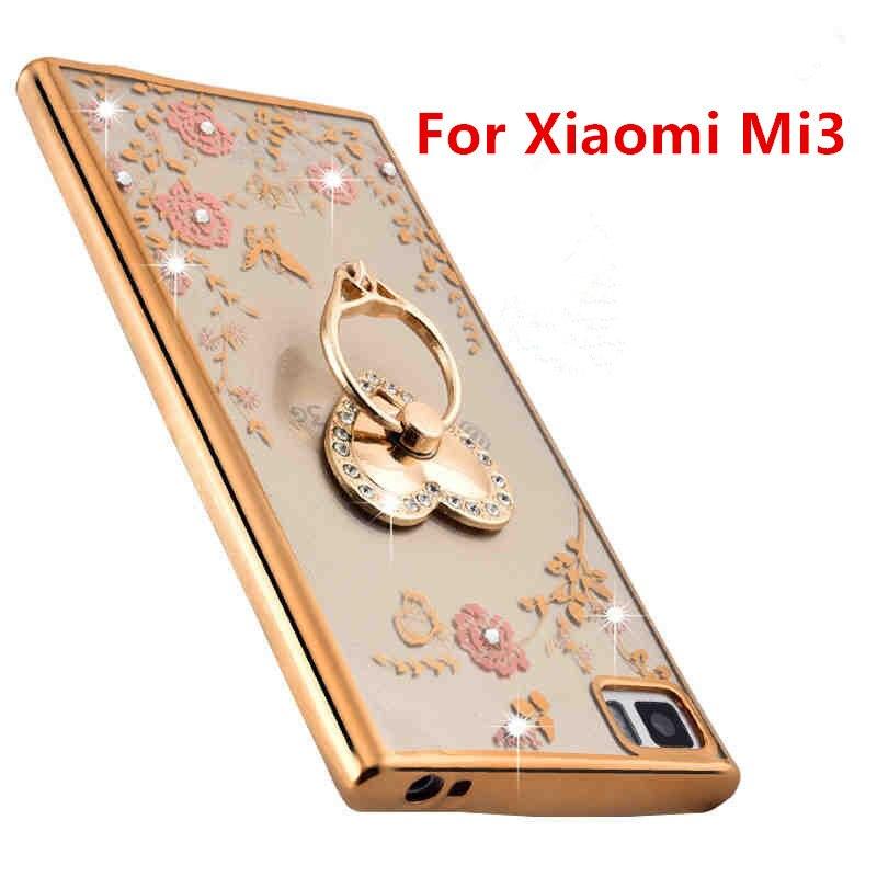 2016 For Xiaomi Mi3 Case Luxury Plating Gilded TPU silicone soft Back Cover Accessory Coque Fundas For Xiaomi Mi 3