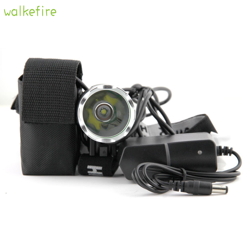 Walkfire T6 Bicycle Light HeadLight 1800 Lumen 3 Mode Waterproof Bike Front Light LED HeadLamp With 6400mAh Battery Pack+Charger trustfire 3 mode 1800 lumen 3 led white bike light w batteries pack