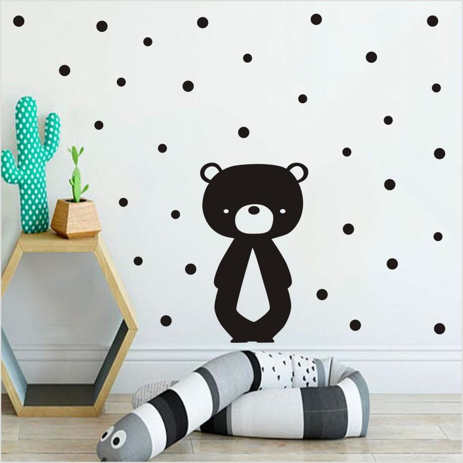 Cartoon Teddy Bear Wall Sticker For Baby Girls Kids Rooms