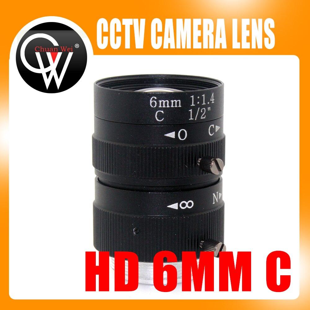 6mm lens 1/2 3 Megapixel Lens Manual Fixed Lens C Mount Industrial lens For cctv camera box 35mm 3mega pixel c mount 2 3 fa machine vision fixed focal length lenses industrial camera manual aperture lens