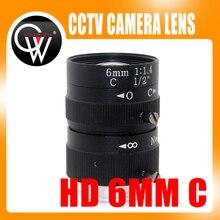 6mm lens 1/2″ 3 Megapixel Lens Manual Fixed Lens C Mount Industrial lens For cctv camera box