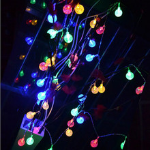 20 LED Battery Box Bubble Garden Christmas Bulb String modern lighting fixture  *30