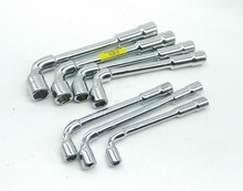 New 7pcs/set L type angled socket wrench spanner with thru hole Hex Key Wrench 6, 7,8, 9, 10, 11, 12mm 40CR