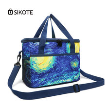 SIKOTE Waterproof Oxford Cooler Bags Thermal Portable Insulated Bags for Kids Women Keeping Fresh for Food Large Capacity Bags