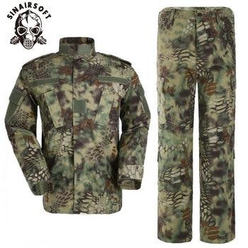 SINAIRSOFT Kryptek Mandrake strój kamuflażowy mundur wojskowy. Koszula + spodnie, Airsoft Tactical BDU odzież myśliwska