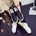 2017 Новых женщин обувь Из Натуральной Кожи Леди плоский Кожаный Скольжения Повседневная Мокасины обувь Белый Черный размер 35-40 Горячая продажа обувь