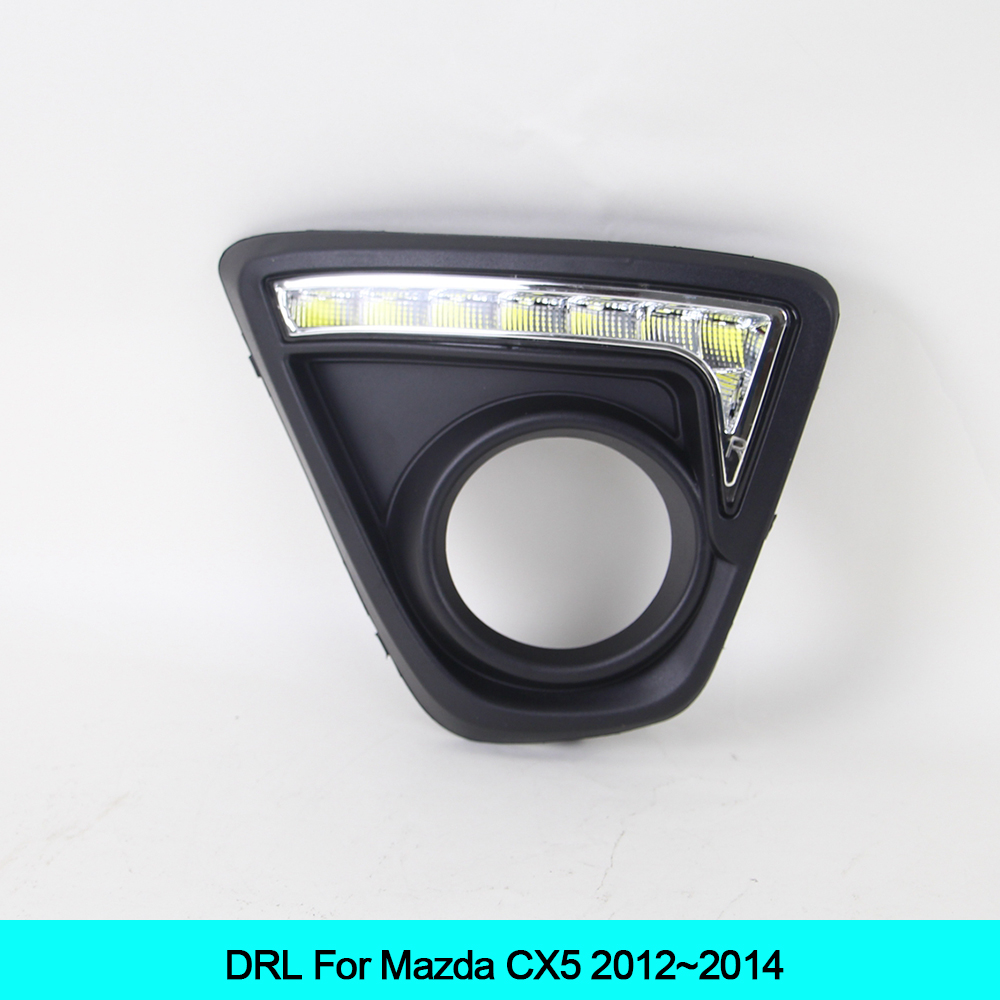 Car DRL KIT For Mazda CX5 cx-5 2012 2013 2014 LED Daytime Running Light bar auto fog lamp super bright daylight for car led drl емкость для заморозки и свч curver fresh