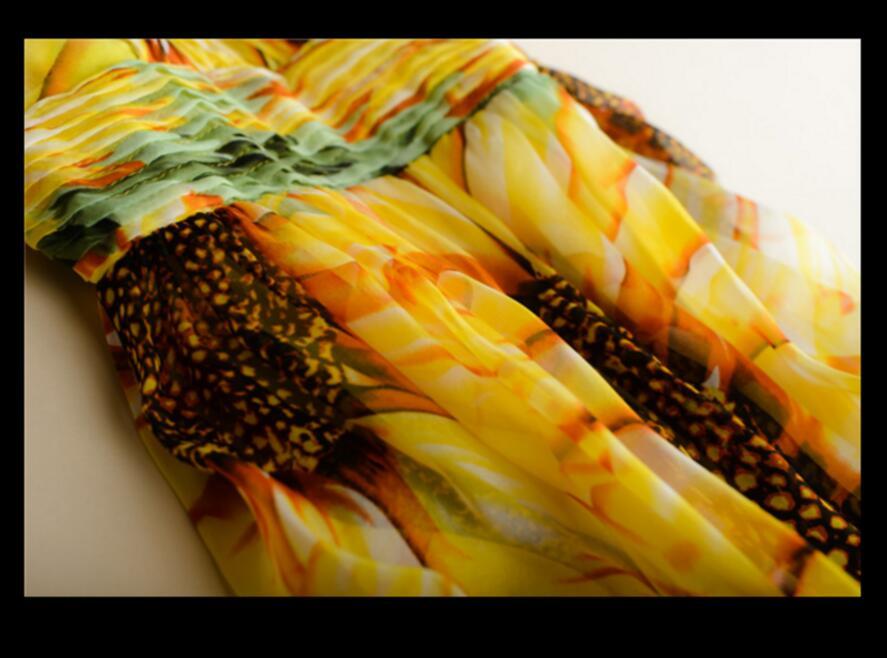 Ženska svilena haljina dugačka haljina 100% prirodna svilena - Ženska odjeća - Foto 6