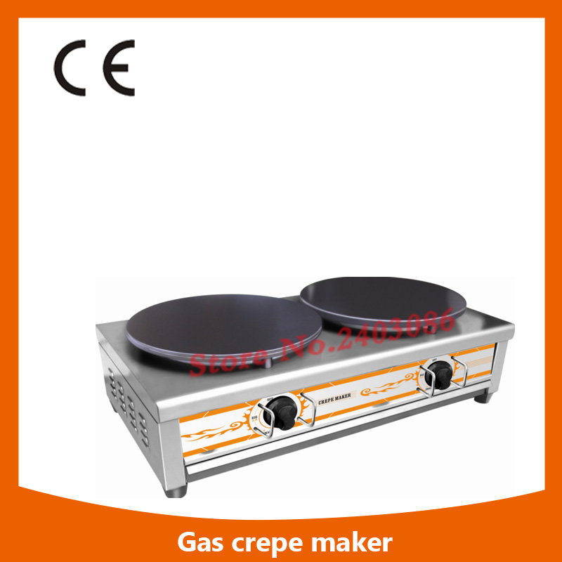 Ce Approval Commercial Double Plate Gas Crepe Maker Machine/gas Crepe Making Machine,Gas Crepe Maker Machine shipule 2017 new high quality gas crepe maker two head commercial crepe making machine price