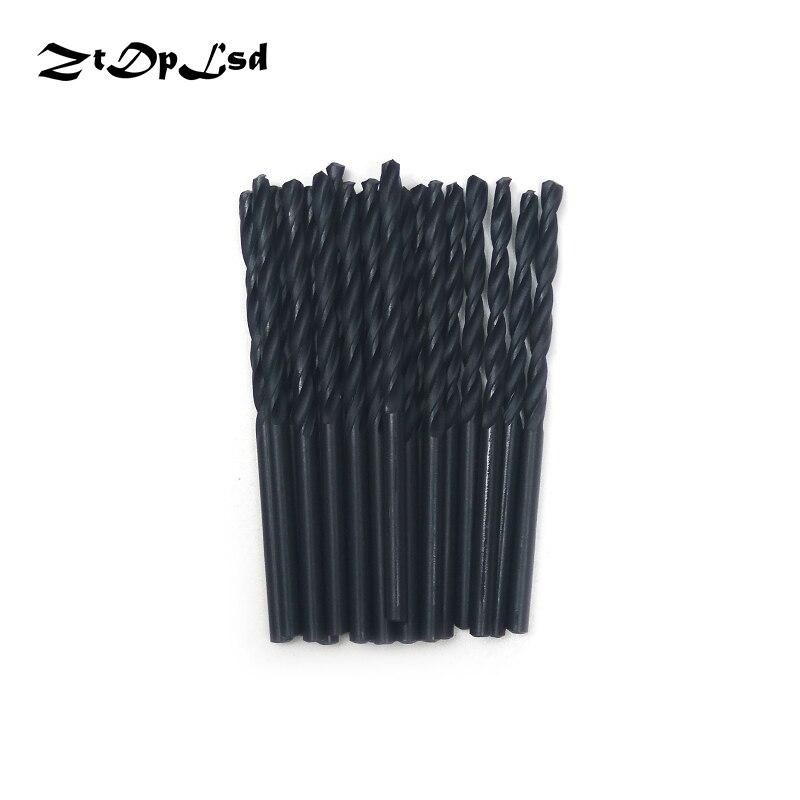 ZtDpLsd 20Pcs 3mm Metal Drilling HSS Twist Drill Bits High Speed Steel Electric Drilliing Power Craft Wood WoodWork Hand Tool