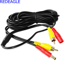 REDEAGLE RCA Cable 5M 10M 20M Optional CCTV Audio Output DC Plug Extension Cable for AHD CVI TVI Analog Security DVR Cameras