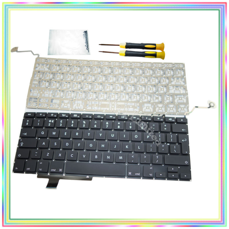 "Brand new UK Keyboard without Backlight & Screwdrivers keyboard screws for Macbook Pro 17.1 inch"" A1297 2009-2011 Years"""