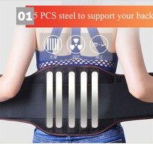 Medizinische Therapie Atmungsaktive Mesh Niedrigeren Zurück Taille Unterstützung Klammer Verstellbaren Trägern für Linderung Low Back Schmerzen Lenden Unterstützung Gürtel