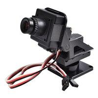 M210 720p Hd Mini FPV Aio Camera W/nylon Pan Tilt Ptz And Servo for RC Aircraft Photography Quadcopter