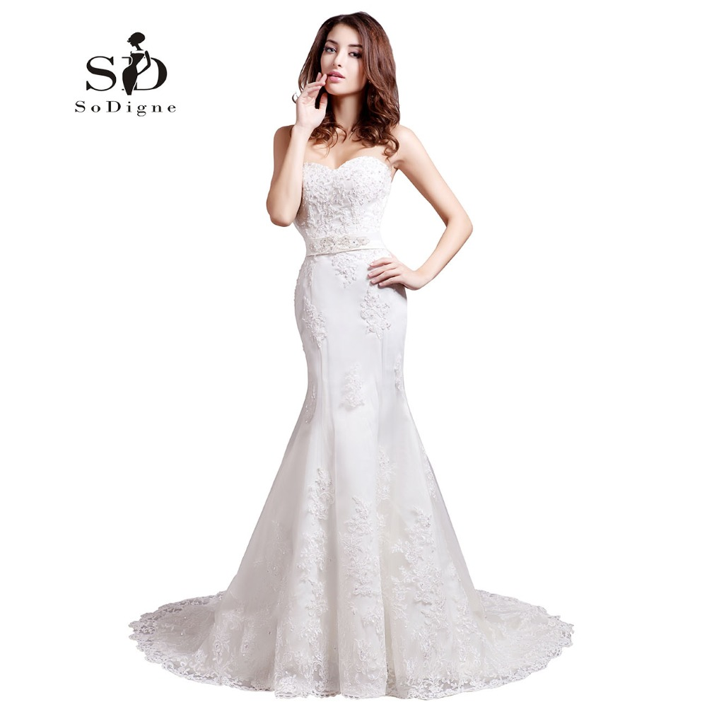 Wedding Dress 2018 SoDigne Mermaid With Delicate Appliques Sweetheart Off The Shoulder Beaded Elegant New Fashion Bridal Gown